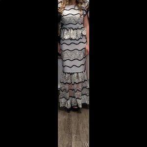 Long midi party dress